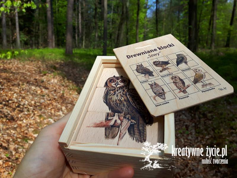 Klocki drewniane sowy Puls Art