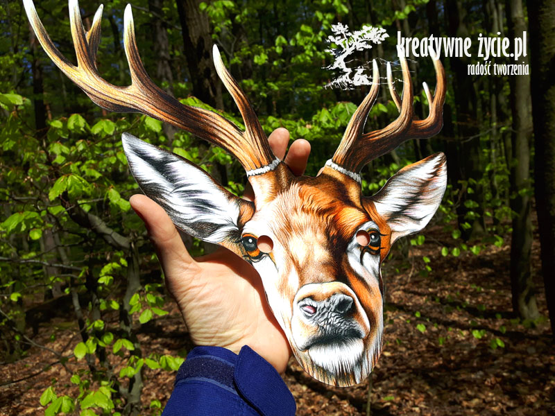 Maska jeleń z rogami Puls Art