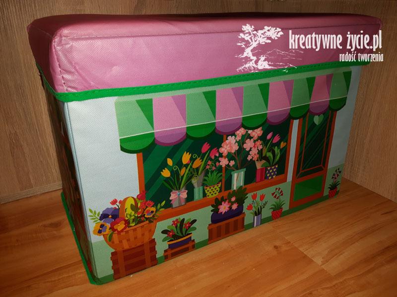 Pudełko kolorowe na zabawki