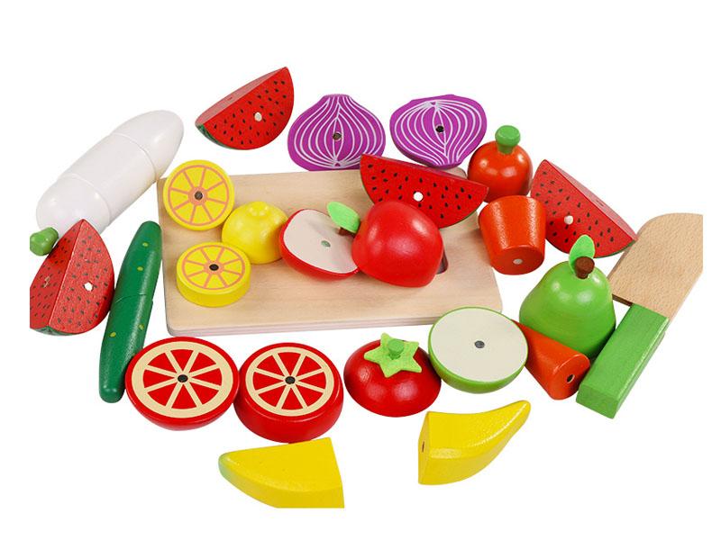 Warzywa drewniane dla dzieci