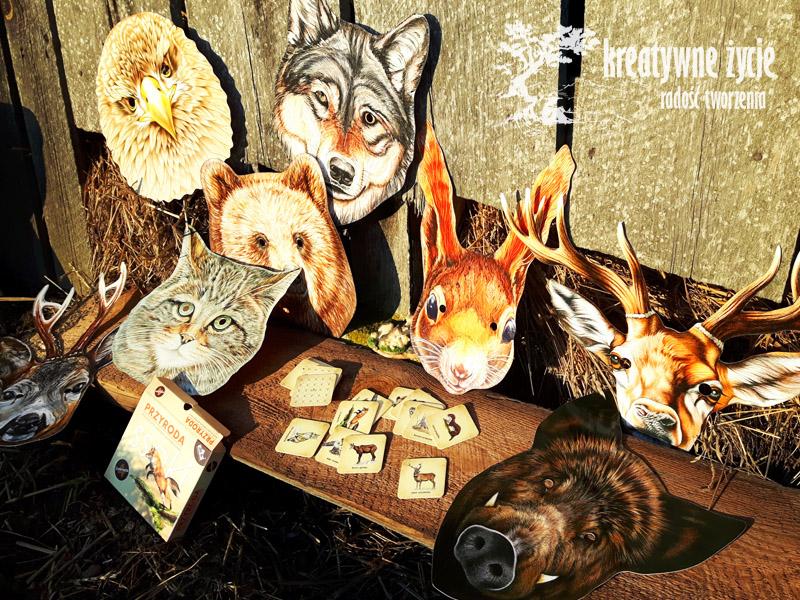 Maski zwierząt lasów Polski