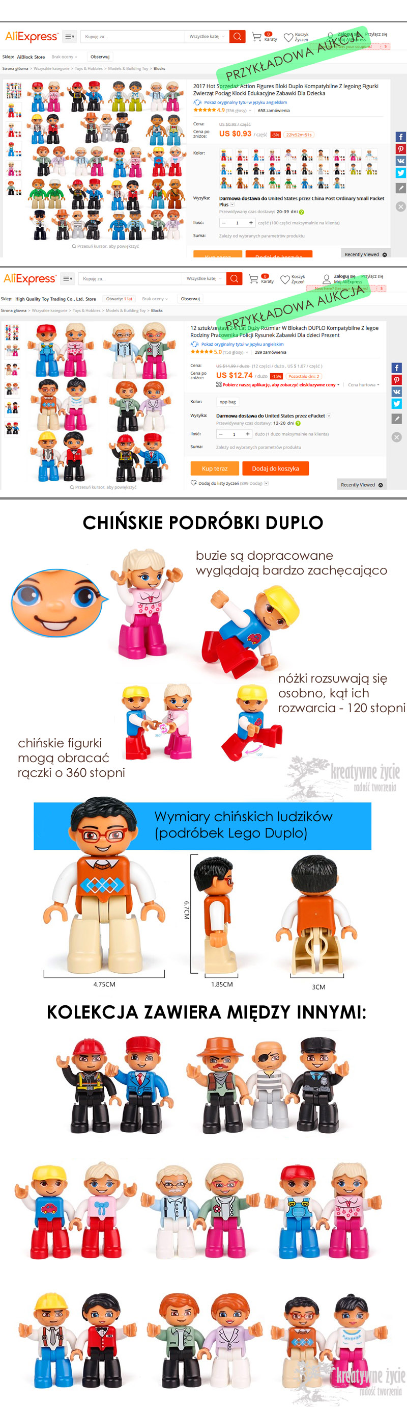 Chińskie figurki Duplo