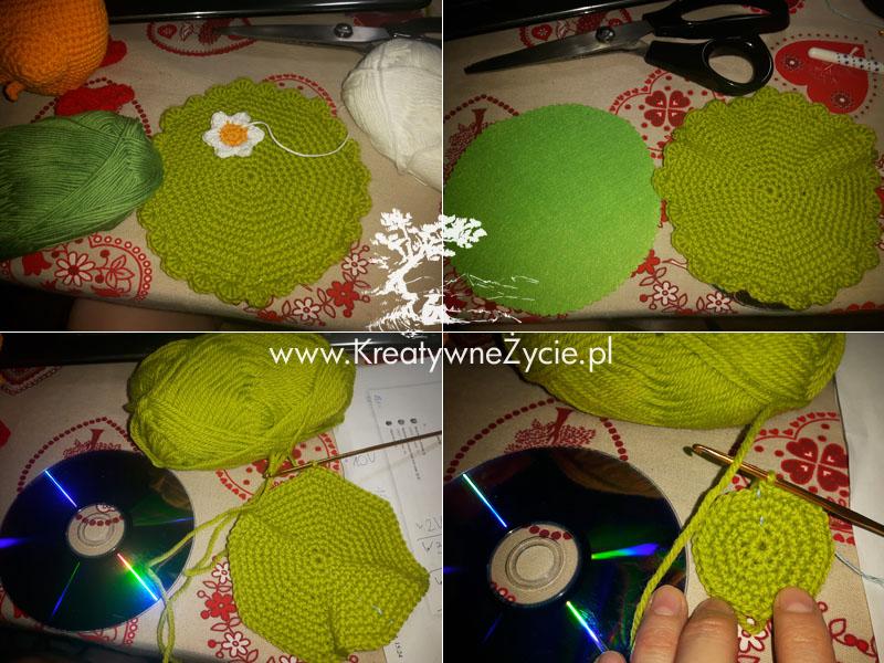 Łączka zielona na szydełku