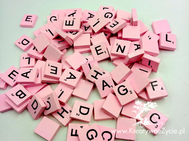 Alfabet drewniany do Scrabble
