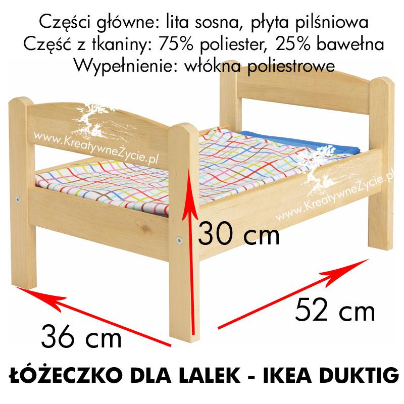 Ikea Duktig łóżeczko wymiary
