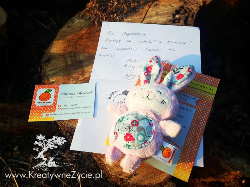 Króliczek pluszowy handmade