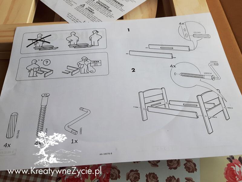 Ikea instrukcja montażu łóżeczka