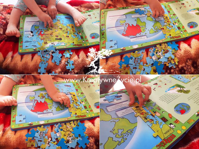 Mapy świata - książka z puzzlami