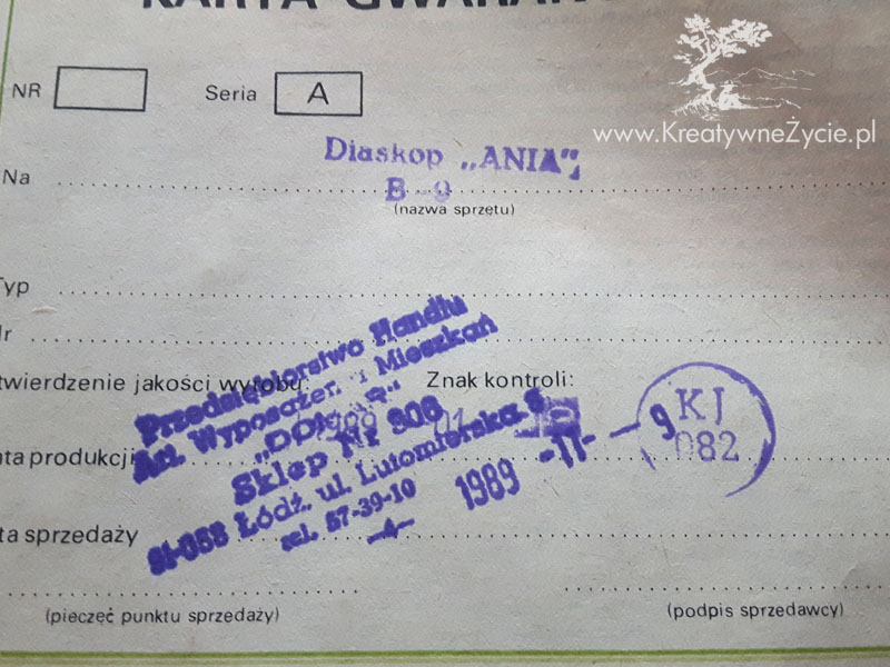 Rzutnik Ania-instrukcja