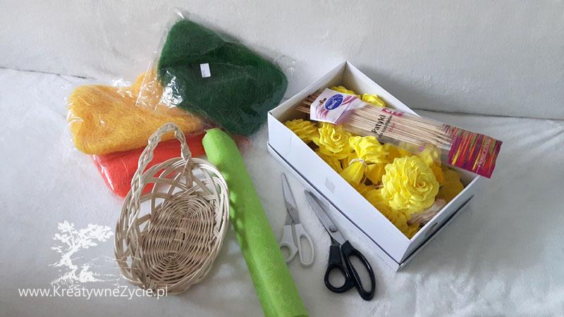 Bukiet Wielkanocny z krepy