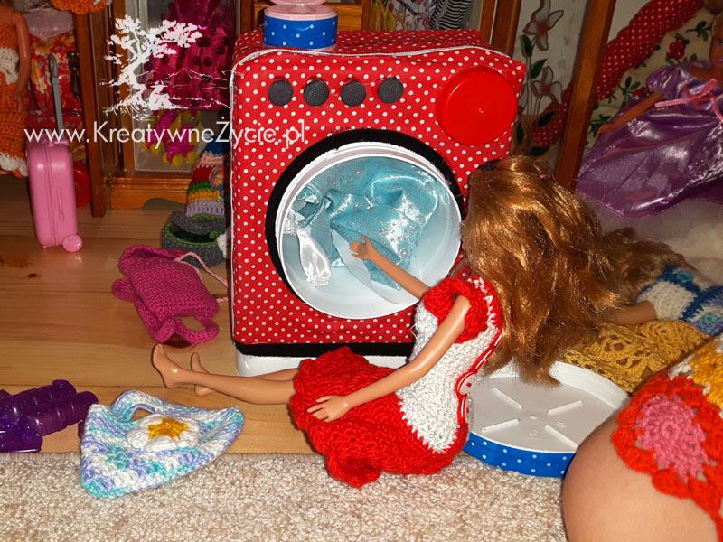 Pralka dla Barbie diy