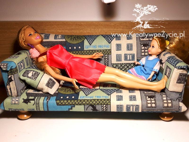Kanapa dla Barbie diy