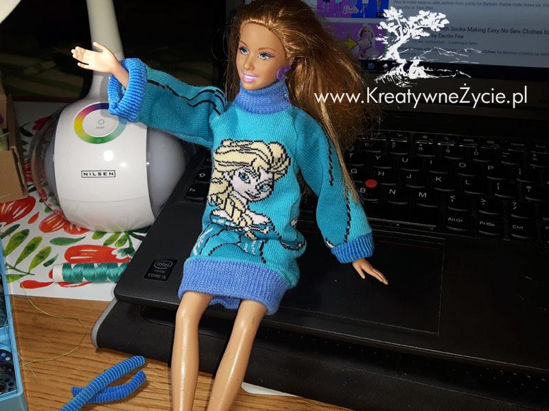 DIY Barbie sweter