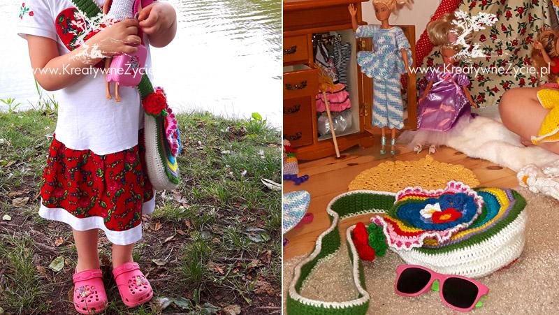 Crochet bag flower