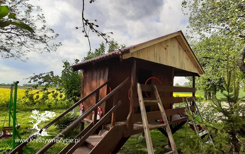 Domek ogrodowy diy