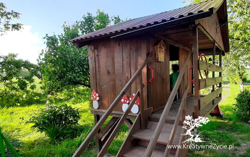 Domek ogrodowy - z drewna