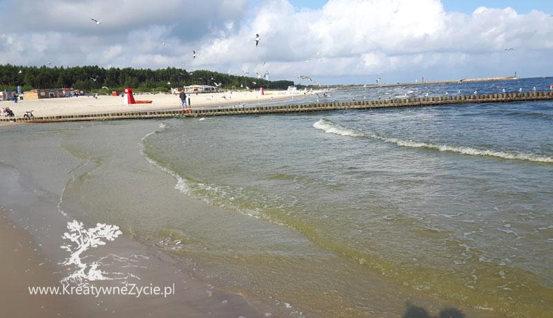 Łeba nad morzem