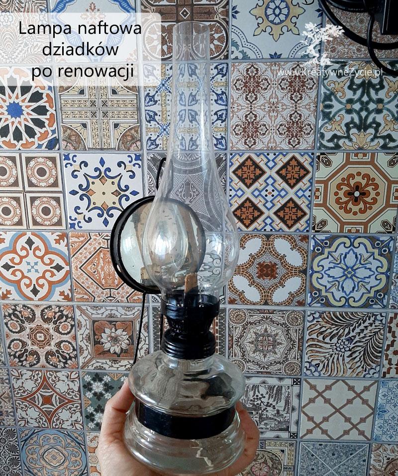 Lampa naftowa po renowacji