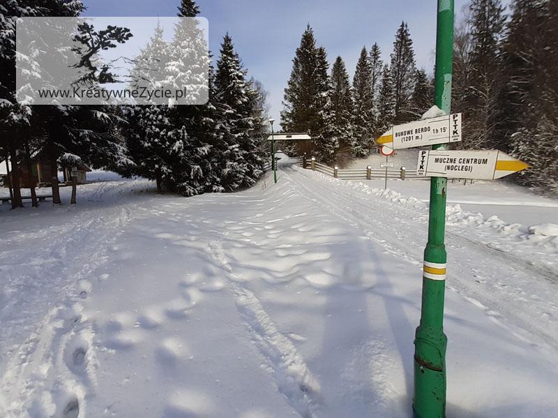 Droga na Muczne zimą