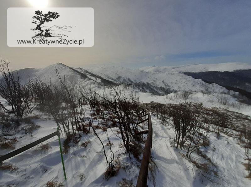 Szlak na Bukowe Berdo zimą