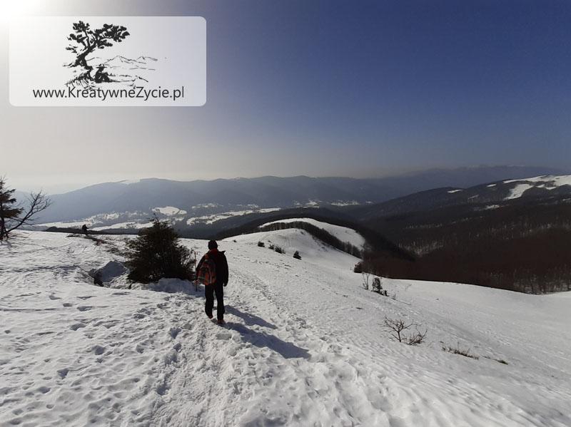 Buty zimowe wejście na Tarnicę