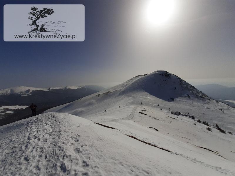 Tarnica-wejście zimą