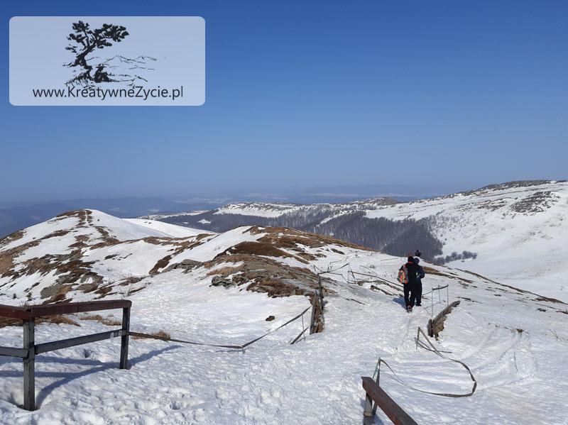 Tarnica Bieszczady zimowe wejście